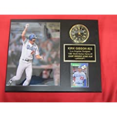 Kirk Gibson Los Angeles Dodgers Collectors Clock Plaque w 8x10 WORLD SERIES Photo and... by J & C Baseball Clubhouse