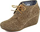 TOMS Women's Desert Wedges Boot Cheetah Suede Size 7 B(M) US