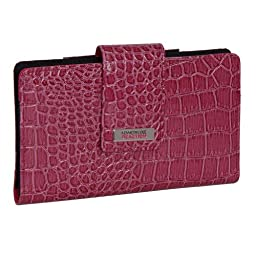 194534-877 Kenneth Cole Reaction Utility Clutch Marbled Style W/ Mirror (CROCO BERRY)