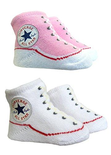 Converse-Baby Booties, Scarpette invernali da bambino, colore: rosa/bianco rosa