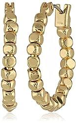 Kenneth Cole New York Small Bead Hoop Earrings