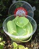 Picknick Set grün Geschirrset Camping Geschirr Picknickset Korb für 6 Personen 48 Teile