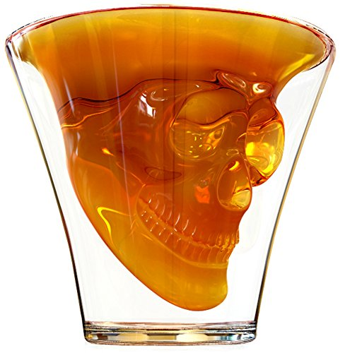 PHANTOM 8 Pack Shatterproof Heavy Duty Skull Shot Cups, 2 Oz. – Clear Heavy Plastic Disposable/Reusable