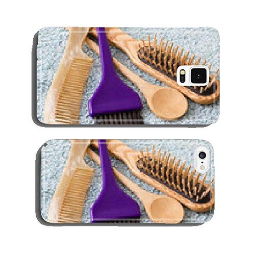 accessoires : brosse peigne cuiller en bois & pinceau coloration cell phone cover case Samsung S5