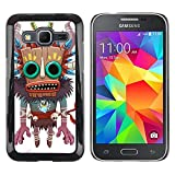 Hard Protective Case Cover Slim Smartphone Shell for Samsung Galaxy Core Prime SM G360 Business Style Monster Native Witch Voodoo Doll Skull