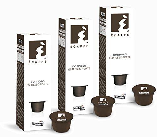 Get 30 Ècaffè Capsules Espresso Forte CORPOSO by Caffitaly System