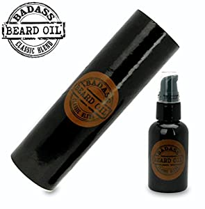 beard oil conditioner 2 oz by badass beard oil 100 all natural beard softener. Black Bedroom Furniture Sets. Home Design Ideas