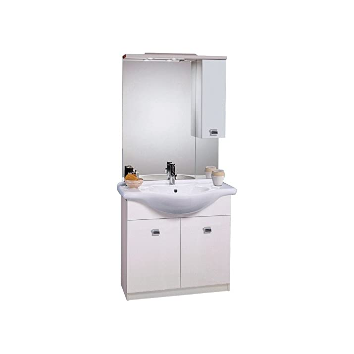 Webmarketpoint mobile bagno 2 ante con lavabo specchio con pensile e top 2 luci francescosarcina - Specchiera bagno amazon ...