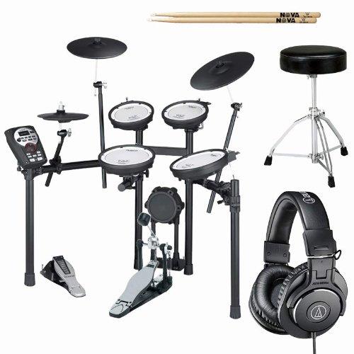 Roland Td-11Kvs V-Drums Drum Kit W/ Ath-M30X Headphones, Throne, Pedal, & Sticks
