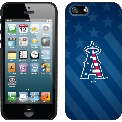 Best Price LA Angels of Anaheim - USA Blue design on a Black iPhone 5 Thinshield Snap-On Case by Coveroo