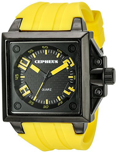 CEPHEUS Men's Quartz Watch CP904-629B CP904-629B with Rubber Strap