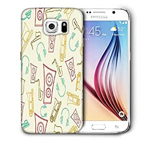 Snoogg Speakers And Jazz Printed Protective Phone Back Case Cover For Samsung Galaxy S6 / S IIIIII