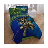 Teenage Mutant Ninja Turtles Twin Bedding Comforter and Sheet Set TMNT