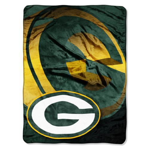 "Nfl Green Bay Packers 60-Inch-By-80-Inch Micro Raschel Blanket, ""Bevel"" Design"