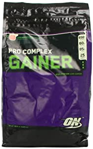 Optimum Nutrition Pro Complex Gainer, Strawberry Cream, 10.16 Pound Bag