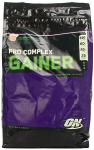 Optimum Nutrition Pro Complex Gainer, Strawberry Cream, 10.16 Pound Bag