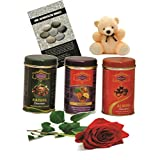 Skylofts 273gms Luscious Chocolate Coated Rich Dry Fruit Collection With A Cute Teddy, A Red Rose And A Love Story...