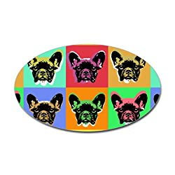 French Bulldog Oval Sticker Sticker Oval by CafePress - White