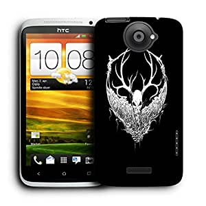 Snoogg White Fury Face Designer Protective Back Case Cover For HTC ONE X