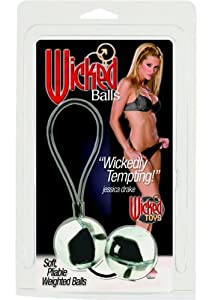 California Exotics Wicked Balls Jessica Drake, Black/White