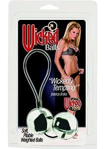 California Exotics Wicked Balls Jessica Drake, Black/White