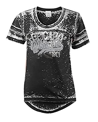 MLB Chicago White Sox Burnout Wash Wide Crew Neck Jersey