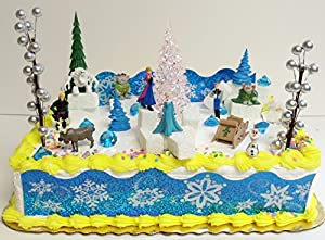 Amazon.com: FROZEN 35 Piece Frozen Cake Topper Set