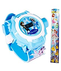 Anshoo Frozen Princess 24 Images Projector Light Digital Watch For Kids Good Gifting Product