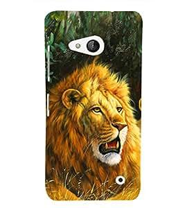 EPICCASE Lion Art Mobile Back Case Cover For Microsoft Lumia 550 (Designer Case)