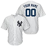 img - for Generic New York Yankees Cusomized White Jersey Derek Jeter #2 Man Size M(40) book / textbook / text book