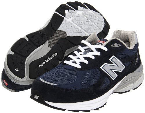 New Balance New Balance - Mens 990v3 Stability Running Shoes, Size: 8 4E US, Color: Navy with Grey & White