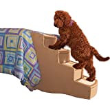 Pet Gear Easy Step IV Pet Stairs, 4-Stepfor cats and dogs up to 150-pounds, Tan