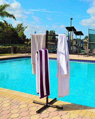 Pool Spa Towel Rack Bronze Premium Extra Tall Towel Tree
