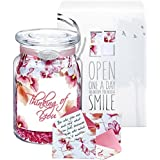 KindNotes MOM Keepsake Gift Jar of Messages for Mothers Birthday, Just Because, Mother's Day - Watercolor Blooms Happy Mother's Day