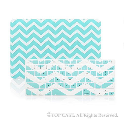 TopCase 2 in 1 - Chevron Series Ultra Slim Light Weight Hard Case Cover Plus Matching Color Chevron Zig-Zag Keyboard Cover Skin for Apple MacBook Pro 13.3
