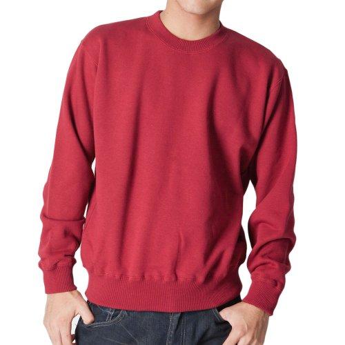 (ティーシャツドットエスティー) Tshirt.st 無地でシンプルな レギュラー トレーナー (裏パイル) バーガンディ XL