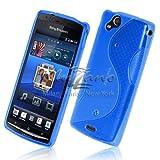 Muzzano 3662133311186 Coque souple originale ultra Le S Premium de Muzzano pour Sony Xperia Arc Bleu
