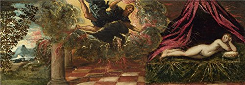 Oil Painting 'Jacopo Tintoretto Jupiter And Semele', 16 x 46 inch / 41 x 118 cm , on High Definition HD canvas prints is for Gifts And Gym, Laundry Room And Study Room Decoration, (Spirit Halloween Utah)