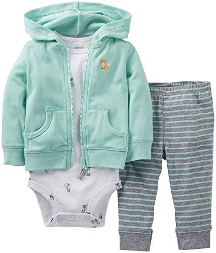 Carter'S Baby Boys' 3 Piece Cardigan Set (Baby) - Mint - Newborn