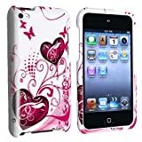 Butterfly Heart 2d Hard Snap-on Crystal Skin Case Cover Accessory for Ipod Touch-4th Generation 4g 8gb 32gb 64gb
