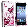 eForCity Butterfly Heart 2d Hard Snap-on Crystal Skin Case Cover Accessory Compatible with Ipod Touch� 4th Generation 4g 4 8gb 32gb 64gb New