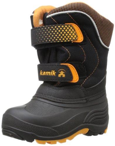 Kamik Footwear Kids Toboggan Insulated Snow Boot (Toddler/Little Kid/Big Kid),Black,4 M US Big Kid