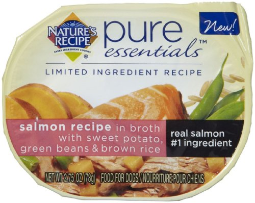 Nature'S Recipe Pure Essentials Salmon Wet Dog Food In Broth, 2.75-Ounce, 24-Pack