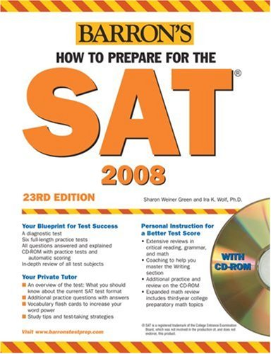 How to Prepare for the SAT with CD-ROM (Barron's How to Prepare for the Sat I)