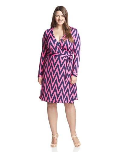 JB by Julie Brown Plus Women's 3/4 Sleeve Wrap Dress