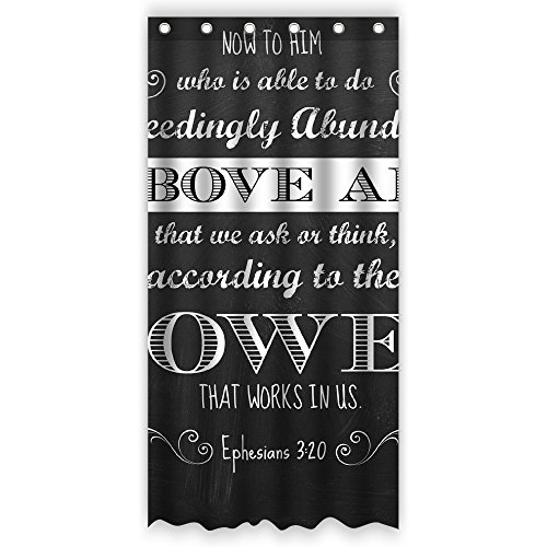 Bart Bible Verse Ephesians 3:20 Above All Power That Works in US Chalkboard Bathroom Shower Curtain,36-Inch by 72-Inch,Unique and Generic Waterproof Polyester Fabric Decorative Bath Curtain Designs (Chalkboard Shower Curtain compare prices)