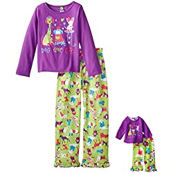c5b8223c23 Dollie   Me Big Girls  Dog Gone Cute Pajamas Sleepwear Set. Amazon.com