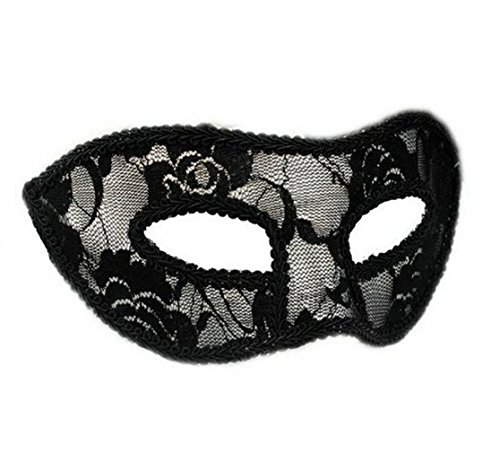 My Sky Black Lace Mask Masquerade Half Mask for Vampire Ball Party