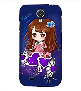 PrintDhaba Cute Girl D-4861 Back Case Cover for SAMSUNG GALAXY MEGA 6.3 (Multi-Coloured)