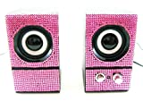 Pink Crystal Rhinestone Computer Speakers